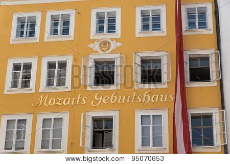 SALZBURG, Austria - July 4 2015: Birthplace of Mozart