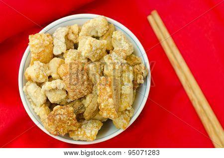 Pork Rind Favorite Food In Thailand