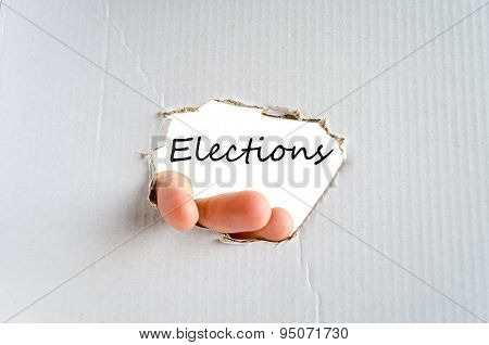 Elections Text Concept