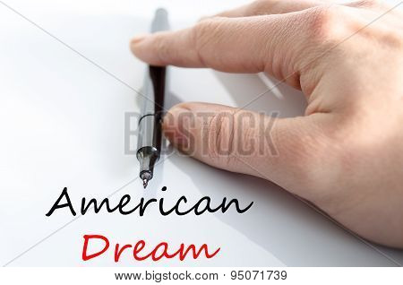 American Dream Text Concept