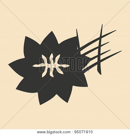 Flat in black and white mobile application saffron