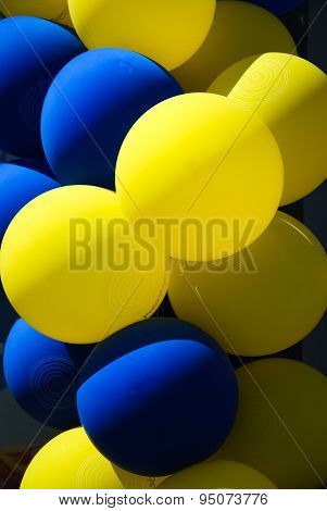 Blue And Yellow Baloons