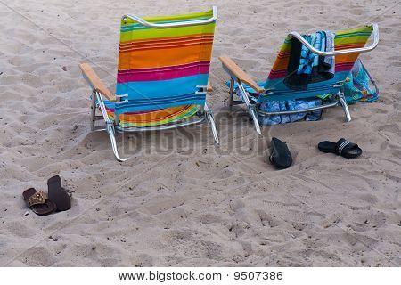 Beach Chairs - A Day At The Beach