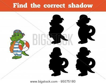Find The Correct Shadow (crocodile)
