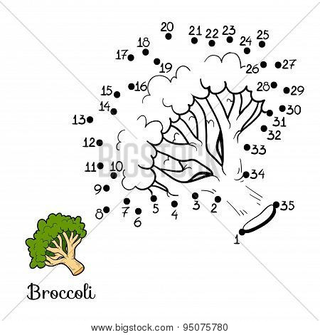 Numbers Game: Fruits And Vegetables (broccoli)