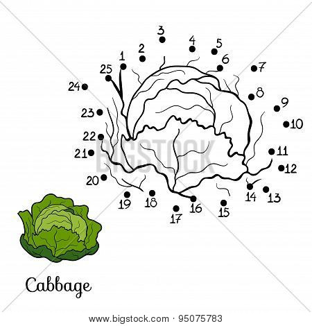 Numbers Game: Fruits And Vegetables (cabbage)