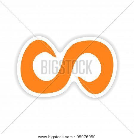icon sticker realistic design on paper symbol