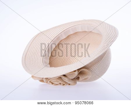 Hat For Lady Or Pretty Straw Hat With Flower.