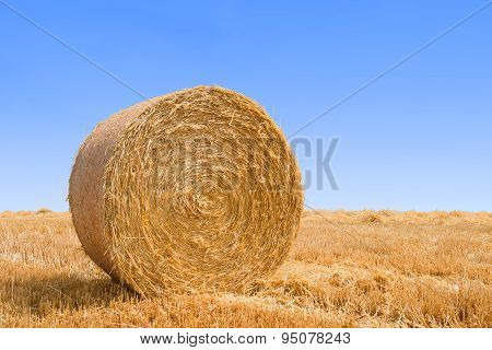 bale pressed from straw
