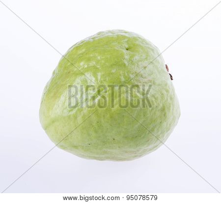 Guava (tropical Fresh Guava) On White Background.