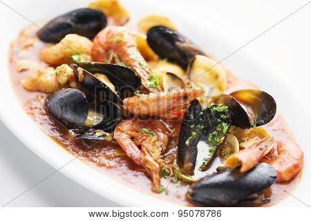 Mixed Seafood In Spicy Tomato Sauce Stew