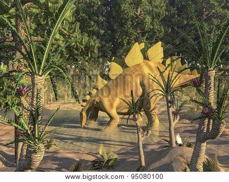 Stegosaurus dinosaur - 3D render