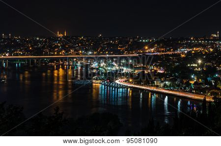 Pierre Loti Hill Night View Of Istanbul