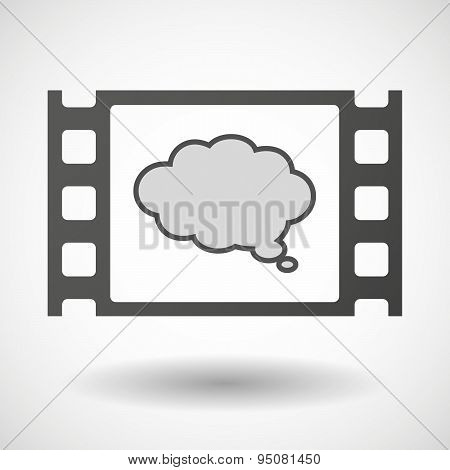 35Mm Film Frame With A Comic Cloud Balloon