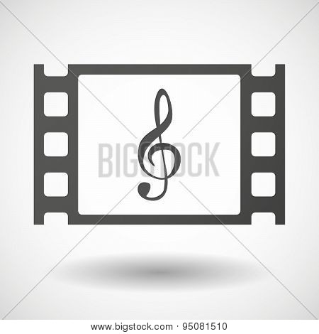 35Mm Film Frame With A G Clef