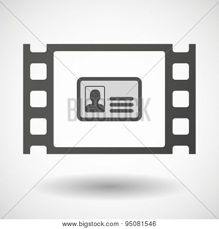 35Mm Film Frame With An Id Card