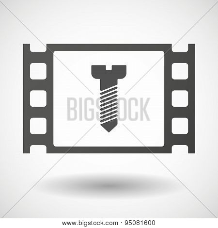 35Mm Film Frame With A Screw