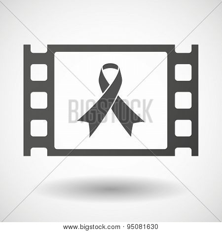 35Mm Film Frame With An Awareness Ribbon