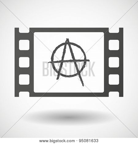 35Mm Film Frame With An Anarchy Sign