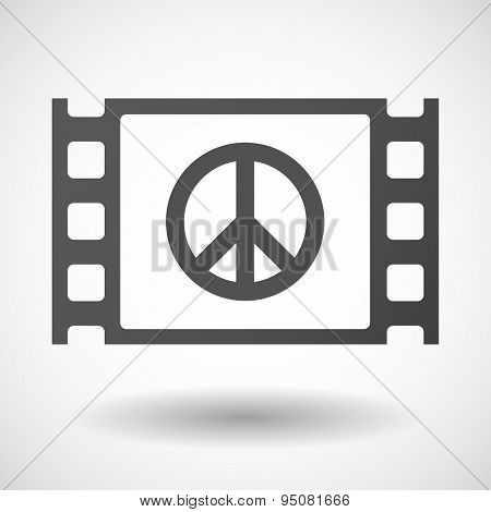 35Mm Film Frame With A Peace Sign