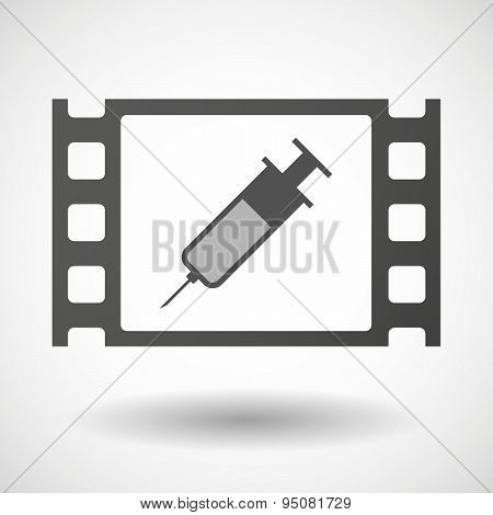 35Mm Film Frame With A Syringe