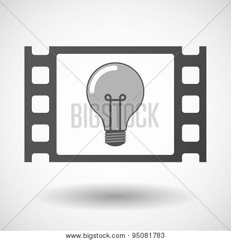 35Mm Film Frame With A Light Bulb