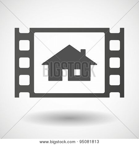 35Mm Film Frame With A House