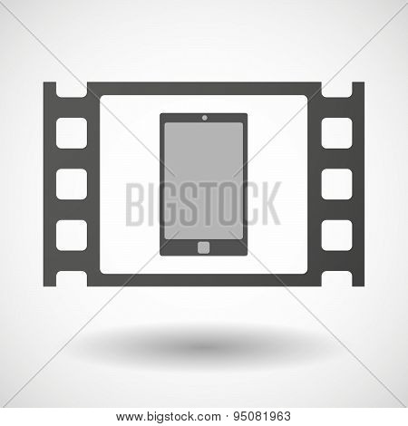 35Mm Film Frame With A Smart Phone