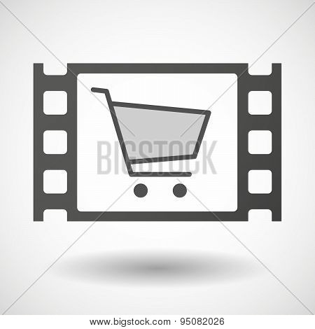 35Mm Film Frame With A Shopping Cart