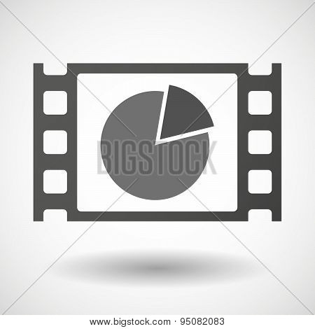 35Mm Film Frame With A Pie Chart