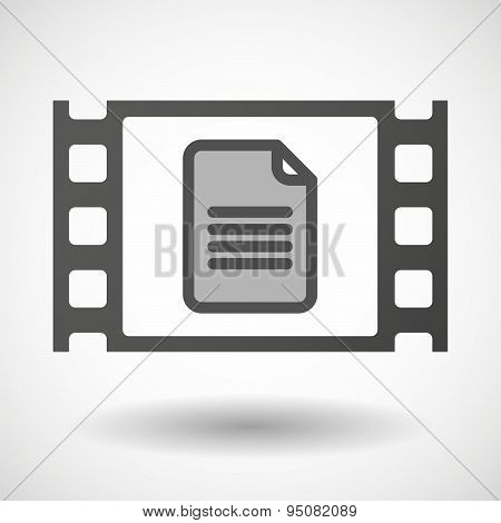 35Mm Film Frame With A Document