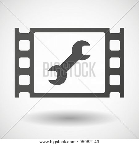 35Mm Film Frame With A Wrench