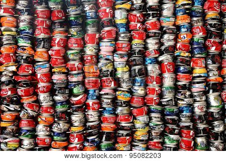Installation Of Crushed Cans