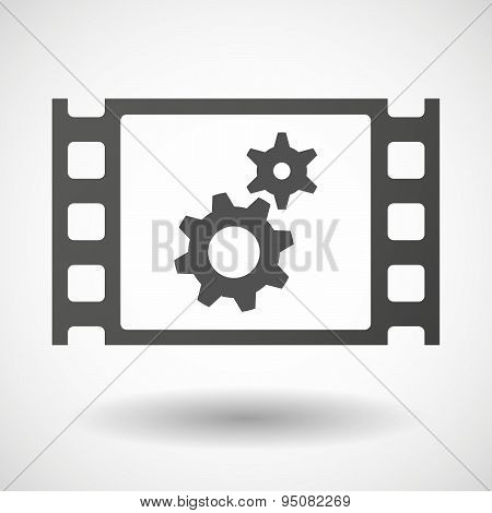 35Mm Film Frame With Two Gears