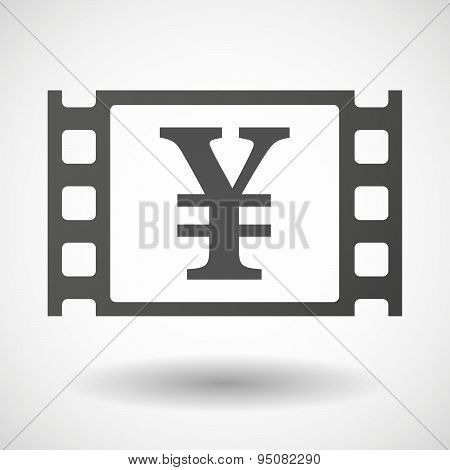 35Mm Film Frame With A Yen Sign