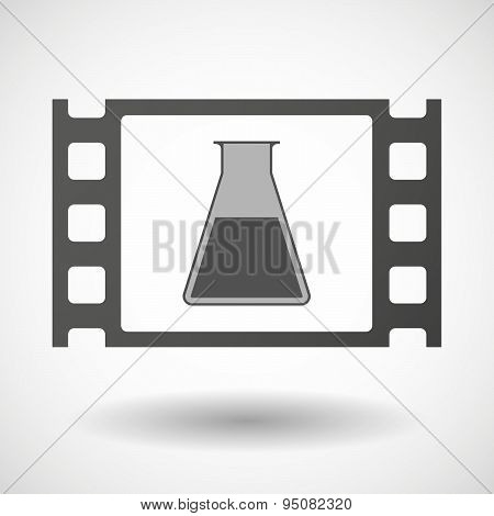 35Mm Film Frame With A Chemical Test Tube