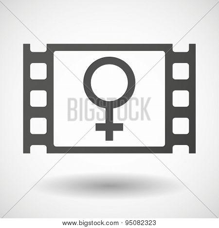 35Mm Film Frame With A Female Sign