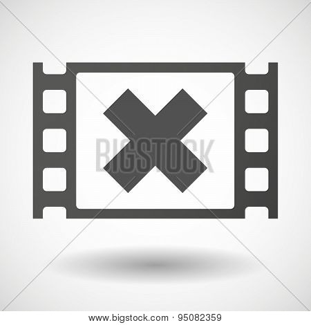 35Mm Film Frame With An X Sign