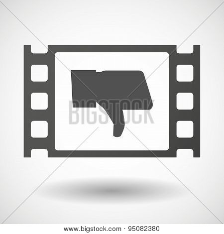35Mm Film Frame With A Thumb Down Hand