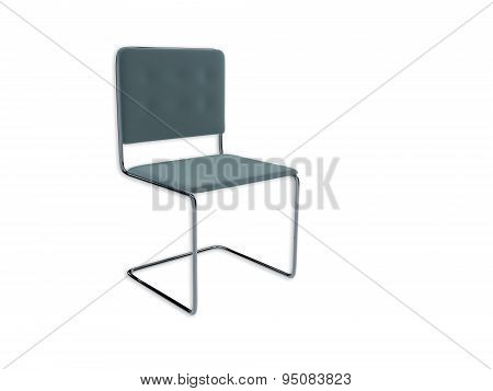 3D Render Of A Metal Office Chair Isolated On White