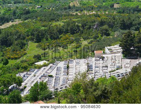 Tombs near the Croatian village Klis
