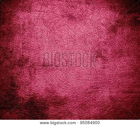 Grunge background of blush leather texture