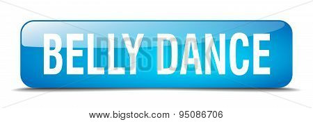 Belly Dance Blue Square 3D Realistic Isolated Web Button