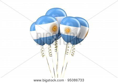 Argentine Patriotic Balloons,  Holyday Concept