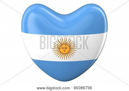 Heart With Argentinean Flag