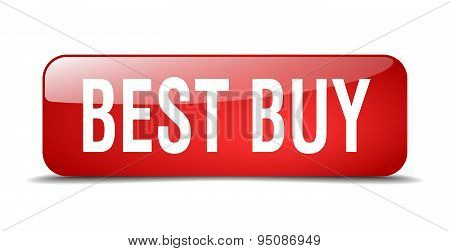 Best Buy Red Square 3D Realistic Isolated Web Button