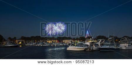 A Seaworld Fireworks Shot, Dana Landing, San Diego