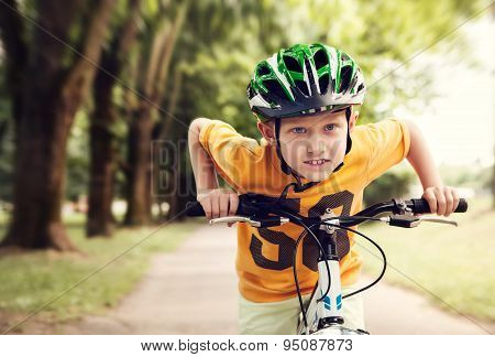 Speed Little Cyclist