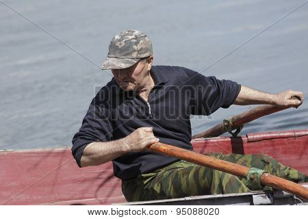 Man In A Boat