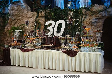 Birthday Table Decoration Of 30Th Jubilee